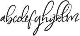 My Beloved Alternates otf (400) Font LOWERCASE