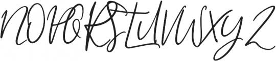 My Beloved Alternates ttf (400) Font UPPERCASE