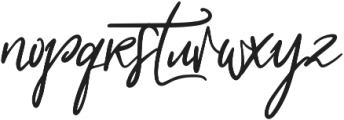 My Beloved Alternates ttf (400) Font LOWERCASE