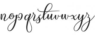 My Sister otf (400) Font LOWERCASE