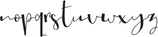 My Way ttf (400) Font LOWERCASE