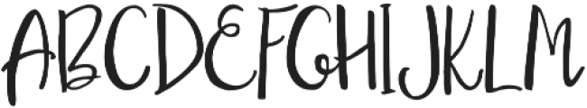 My little Scandinavia script otf (400) Font UPPERCASE