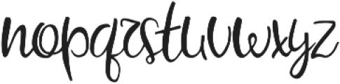My little Scandinavia script otf (400) Font LOWERCASE