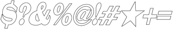 Mystax Narrow Outline otf (400) Font OTHER CHARS