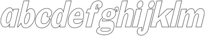 Mystax Narrow Outline otf (400) Font LOWERCASE