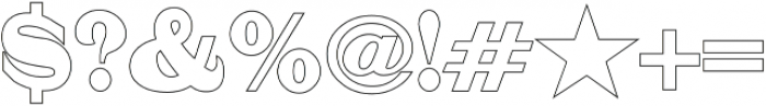 Mystax Outline otf (400) Font OTHER CHARS