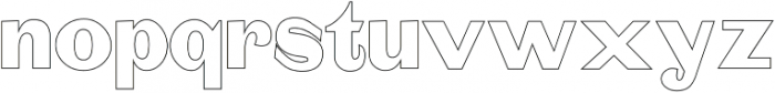 Mystax Outline otf (400) Font LOWERCASE