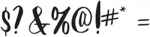 Mythbuster otf (400) Font OTHER CHARS