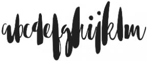 Mythbuster otf (400) Font LOWERCASE