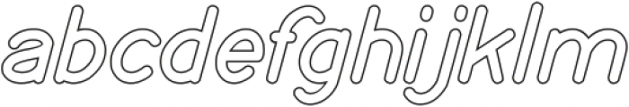 my font-Hollow otf (400) Font LOWERCASE