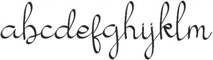 my mecca script otf (400) Font LOWERCASE