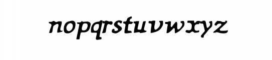 My name is Fredereik Font LOWERCASE