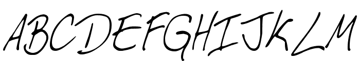 My Boyfriend's Handwriting Font UPPERCASE