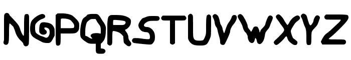 My Childish Font Font UPPERCASE
