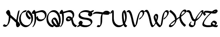 My Dear Font UPPERCASE