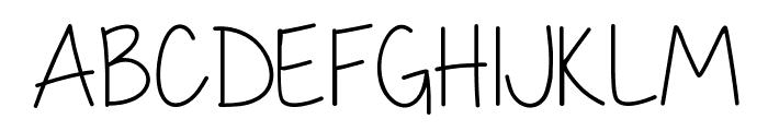 My First Crush Thin Font UPPERCASE