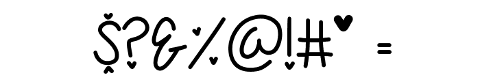 My First Crush Font OTHER CHARS