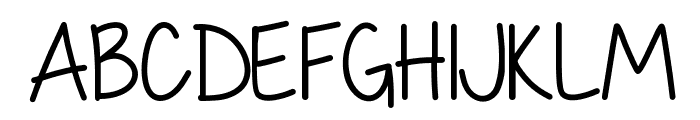 My First Crush Font UPPERCASE