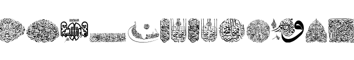 My Font Quraan 2 Font LOWERCASE