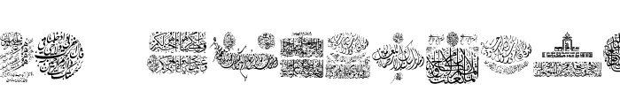 My Font Quraan 6 Font UPPERCASE