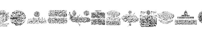 My Font Quraan 7 Font UPPERCASE