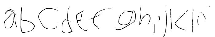 My Handwriting Right Ha Regular Font LOWERCASE