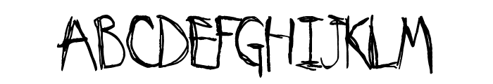 My Imaginary Friend Font UPPERCASE
