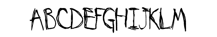 My Imaginary Friend Font LOWERCASE