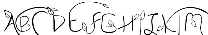 My Leaf Font UPPERCASE