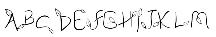 My Leaf Font LOWERCASE