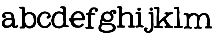 My Own Topher Font LOWERCASE