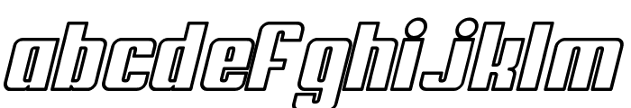 My Puma Oblique Outlined Font LOWERCASE