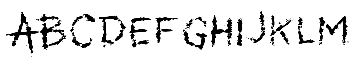My Scars Font UPPERCASE
