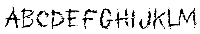 My Scars Font LOWERCASE