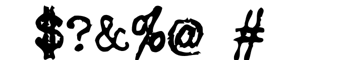 My Underwood Font OTHER CHARS