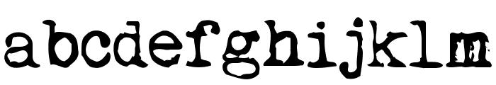 My Underwood Font LOWERCASE