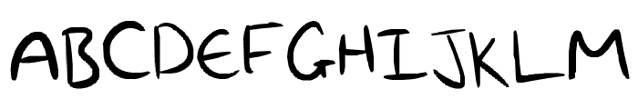 My awesomness handwriting Font UPPERCASE