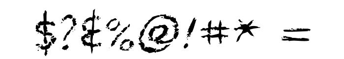 MyBleedingScarsOT Font OTHER CHARS