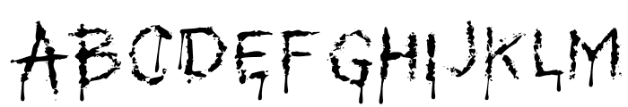 MyBleedingScarsOT Font UPPERCASE