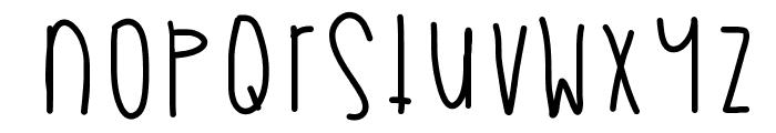 MyBooThang Font LOWERCASE