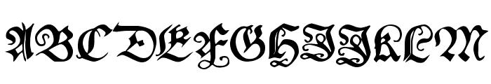 MyElectronicSchwabach Font UPPERCASE