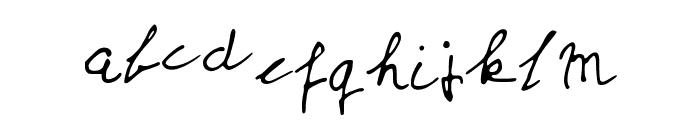 MySchoolHandwriting Font LOWERCASE