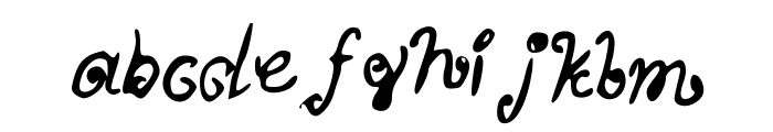 MyScriptFont Font LOWERCASE