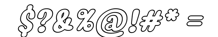 Myfrida Hollow Italic Font OTHER CHARS