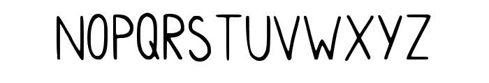 Myhandwriting Regular Font LOWERCASE