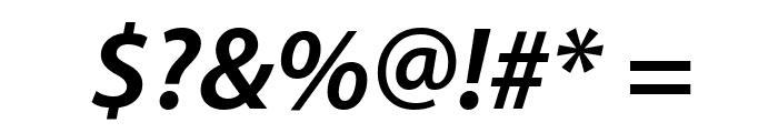 Myriad Apple BoldItalic Font OTHER CHARS
