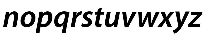 Myriad Apple BoldItalic Font LOWERCASE