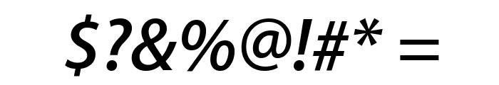 Myriad Apple SemiboldItalic Font OTHER CHARS