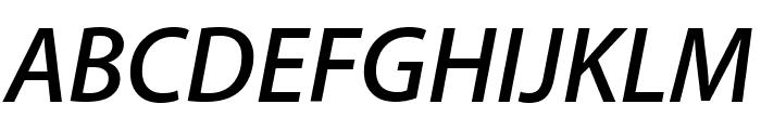 Myriad Apple SemiboldItalic Font UPPERCASE