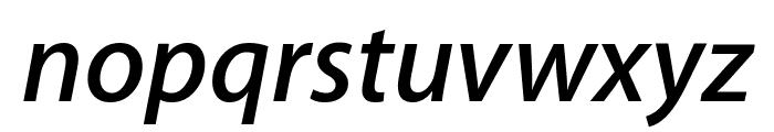 Myriad Apple SemiboldItalic Font LOWERCASE